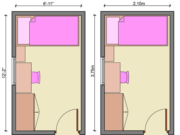 Kids bedroom layout design bedroom narrow bedroom for Narrow bedroom ideas