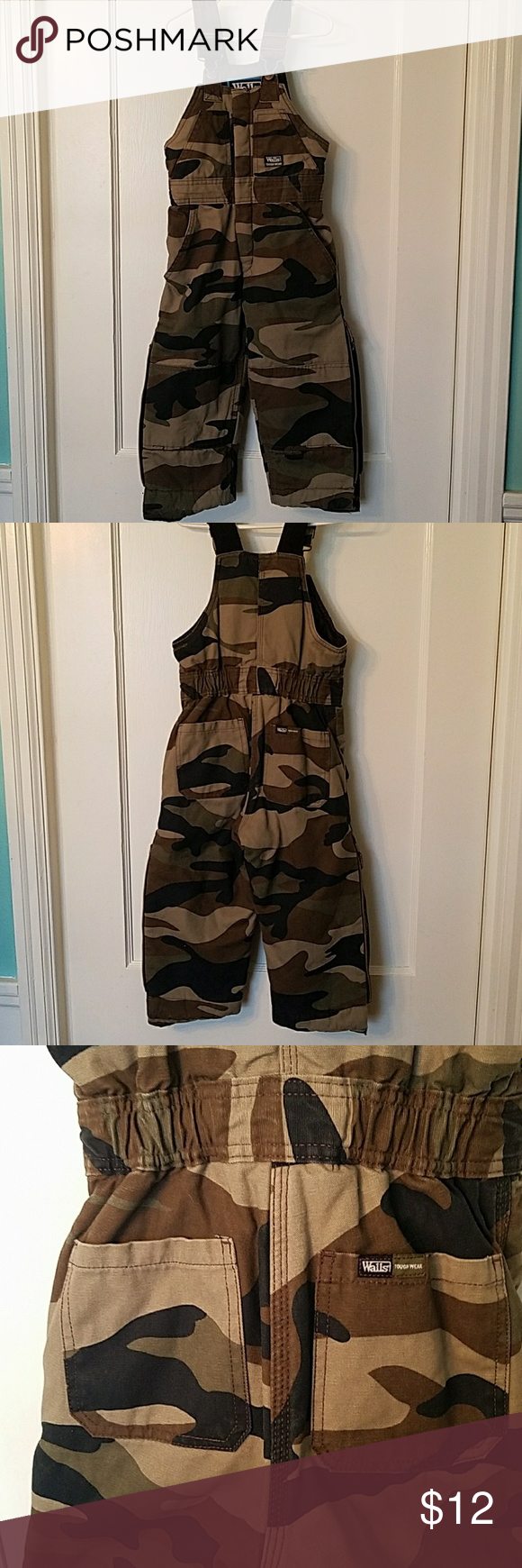 walls tough wear kids grow camo coverall 100 cotton on walls workwear insulated coveralls id=98207