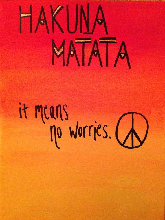 Hakuna Matata It Means No Worries Canvas Art Diy Canvas Art Hakuna Disney Canvas