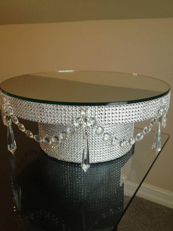16 Rhinestone Diamond Wrap Wedding Cake Stand By