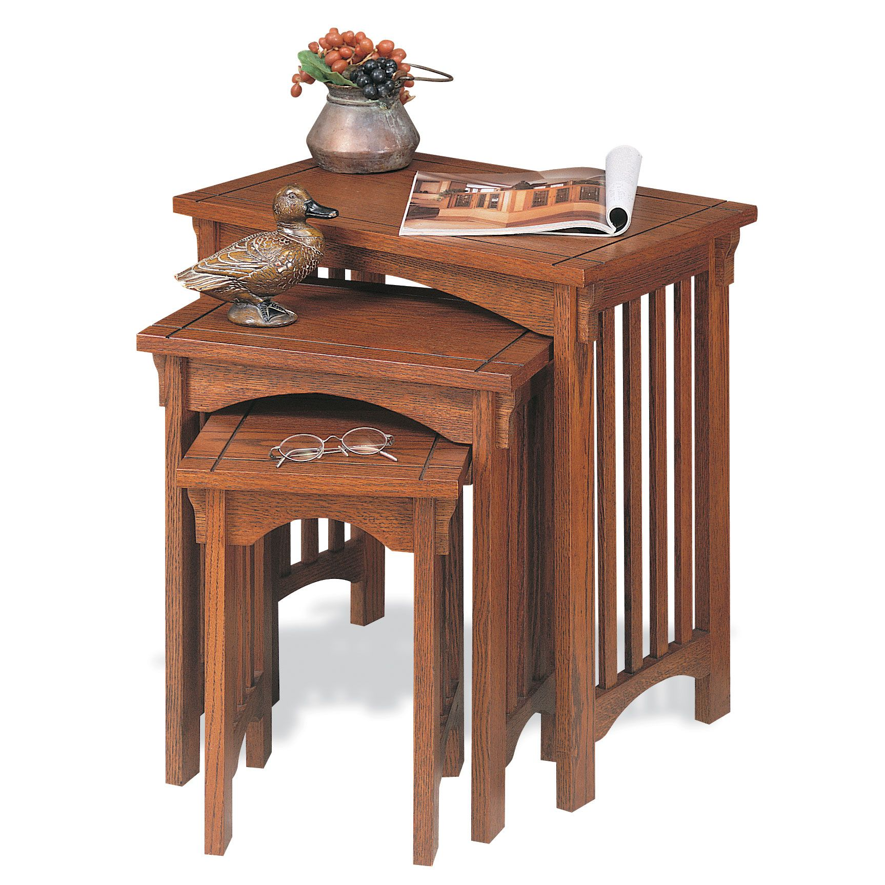 Mission Oak 3 Pc. Nested Tables
