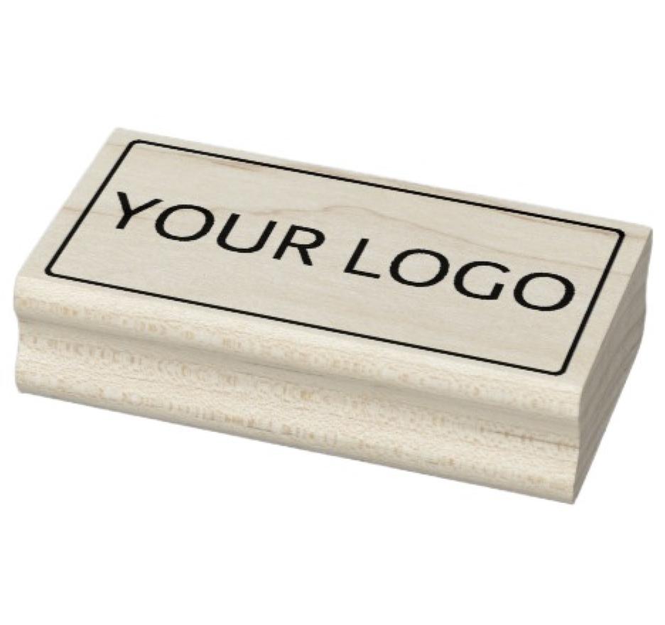 Your custom logo ink rubber stamp Custom