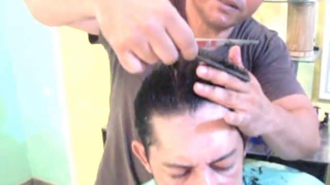 Corte de cabelo masculino 2016 | Como Fazer Acabamento NA Tesoura Cabelo...