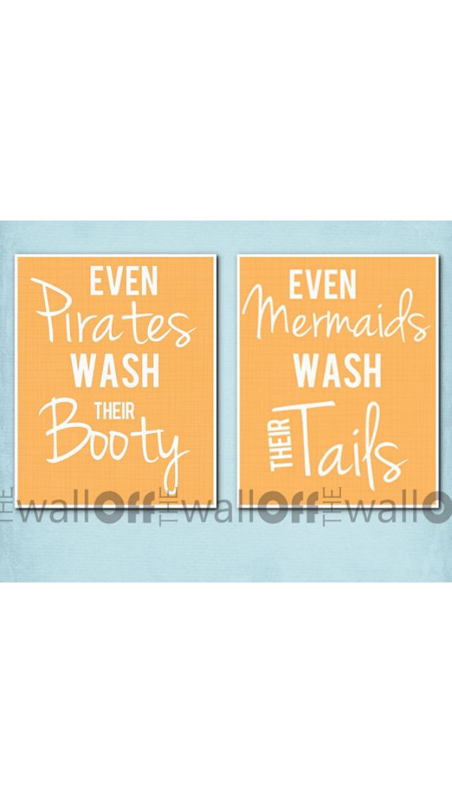 Signs For The Kids Bathroom Fun For Boy And Girl To Share A Space Sunfun Pinterest Kid Bathrooms Bath And House