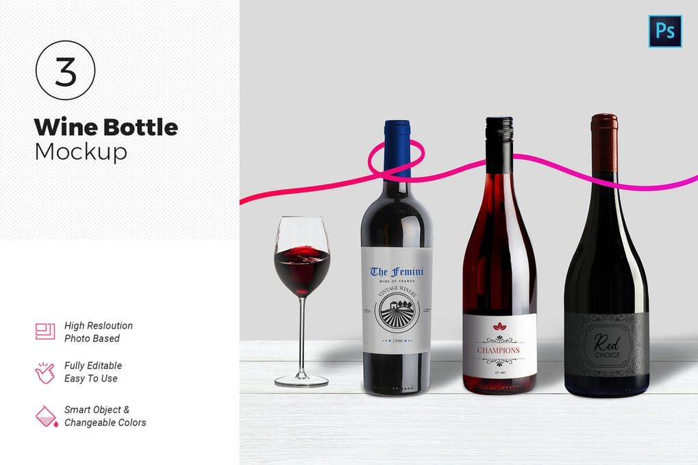25 Fresh Wine Bottle Mockup Psd Templates Mockuptree Wine Bottle Bottle Mockup Label Mockup