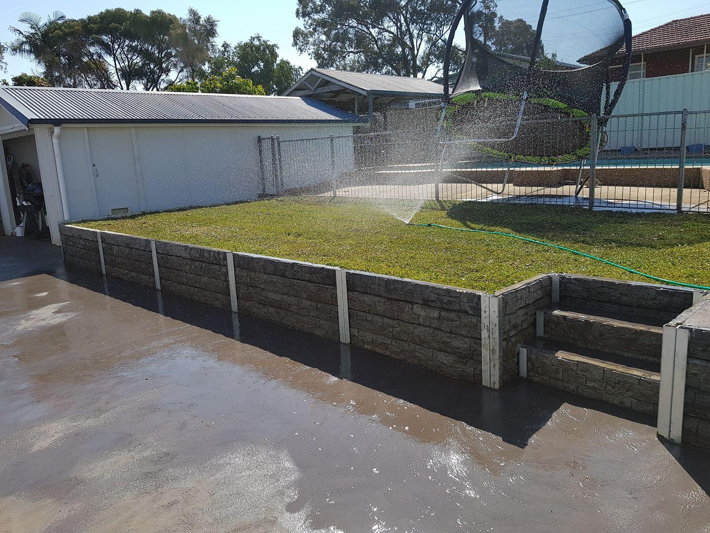 Ridgi Rocks Concrete Sleeper Retaining Wall Diy Visit Ridgi Com Au For More I Sleeper Retaining Wall Backyard Retaining Walls Concrete Sleeper Retaining Walls