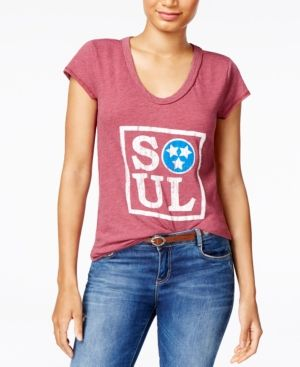 William Rast Viva Soul Graphic T-Shirt - Red XXL