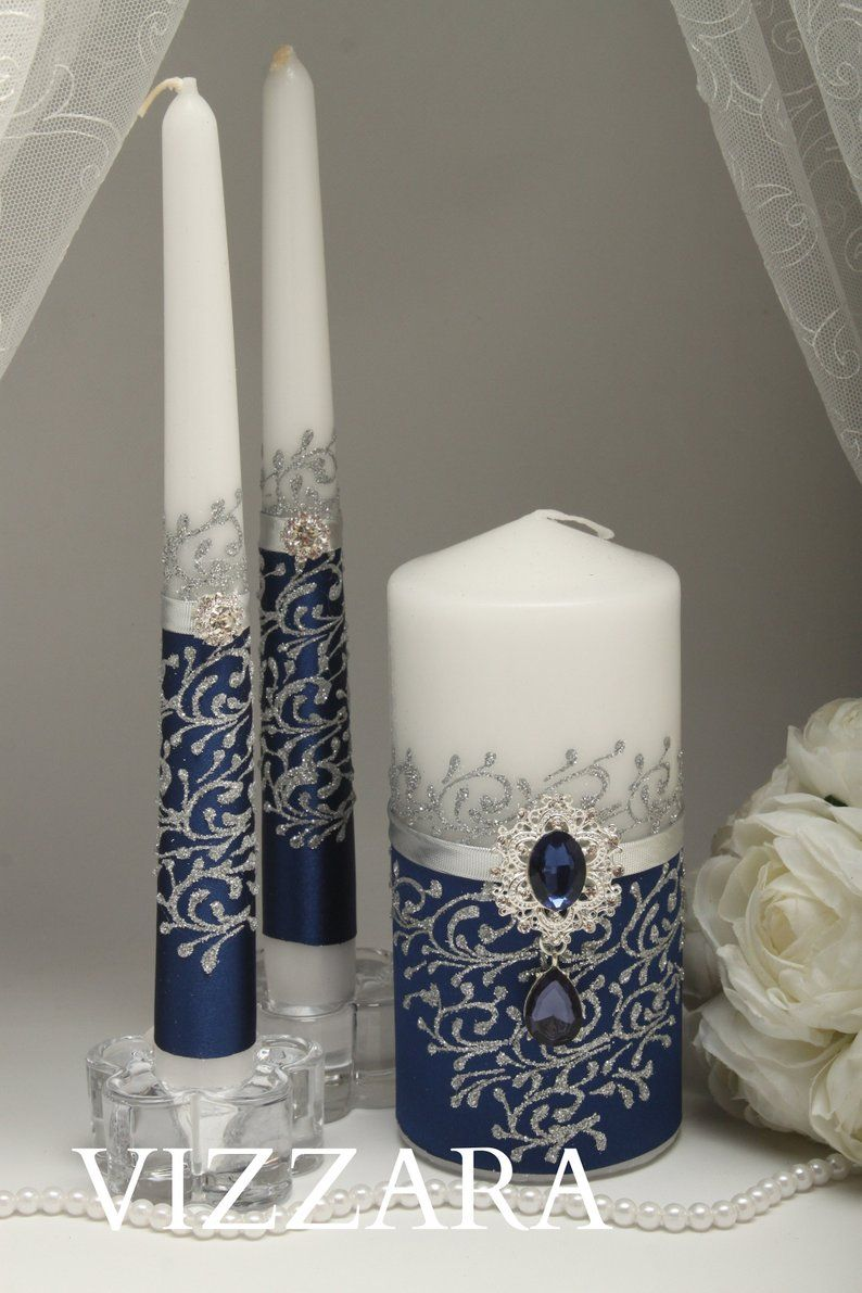 Unity Candle Navy Blue Wedding Unity Candles For Wedding Navy Blue
