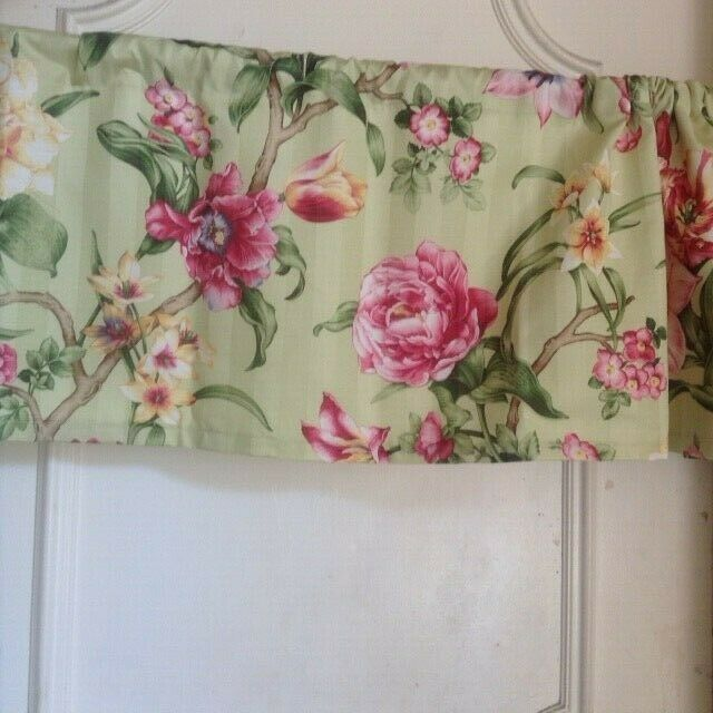 Handmade Light Green Floral Cotton Valance Unbranded In 2020