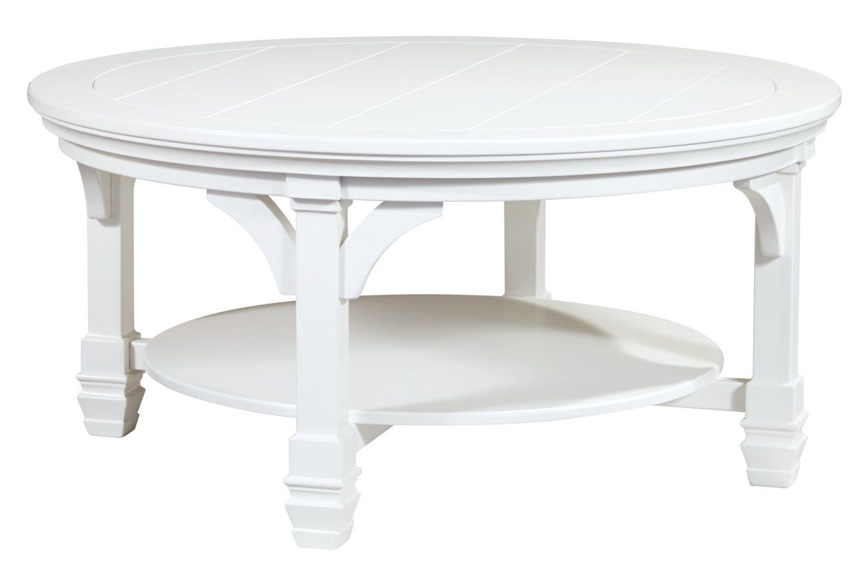 Mintville Coffee Table Round Wood Coffee Table Coffee Table Ashley Furniture Living Room
