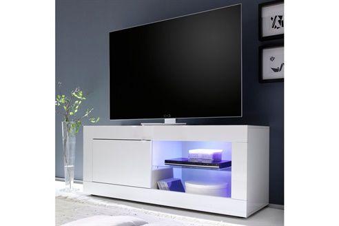 meuble tv 1 porte colmar blanc