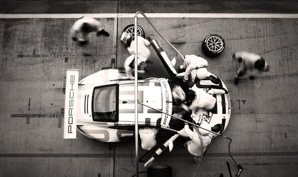 Porsche pit