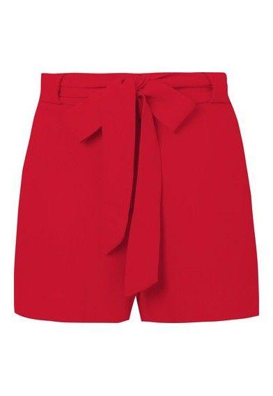 0bcb377788 ANIMALE - Short alfaiataria laço - vermelho - OQVestir Bermuda Social  Feminino