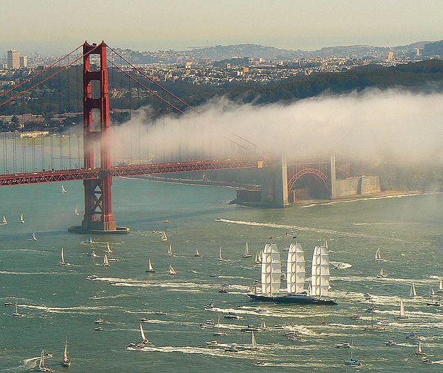 Maltese Falcon Yacht San Francisco Golden Gate Bridge San Francisco Photos Cuba Travel