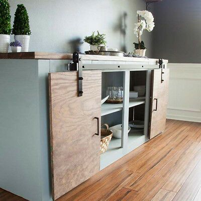 Details about 6/6.6FT Mini Small Sliding Barn Door ...
