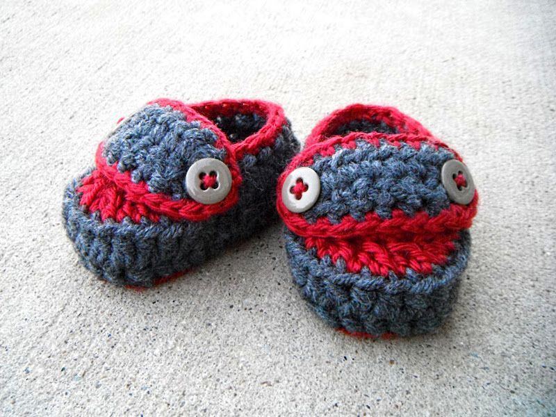 19c04a0fe0477 Baby crocheted loafer pattern, FREE | Crochet slippers booties and ...