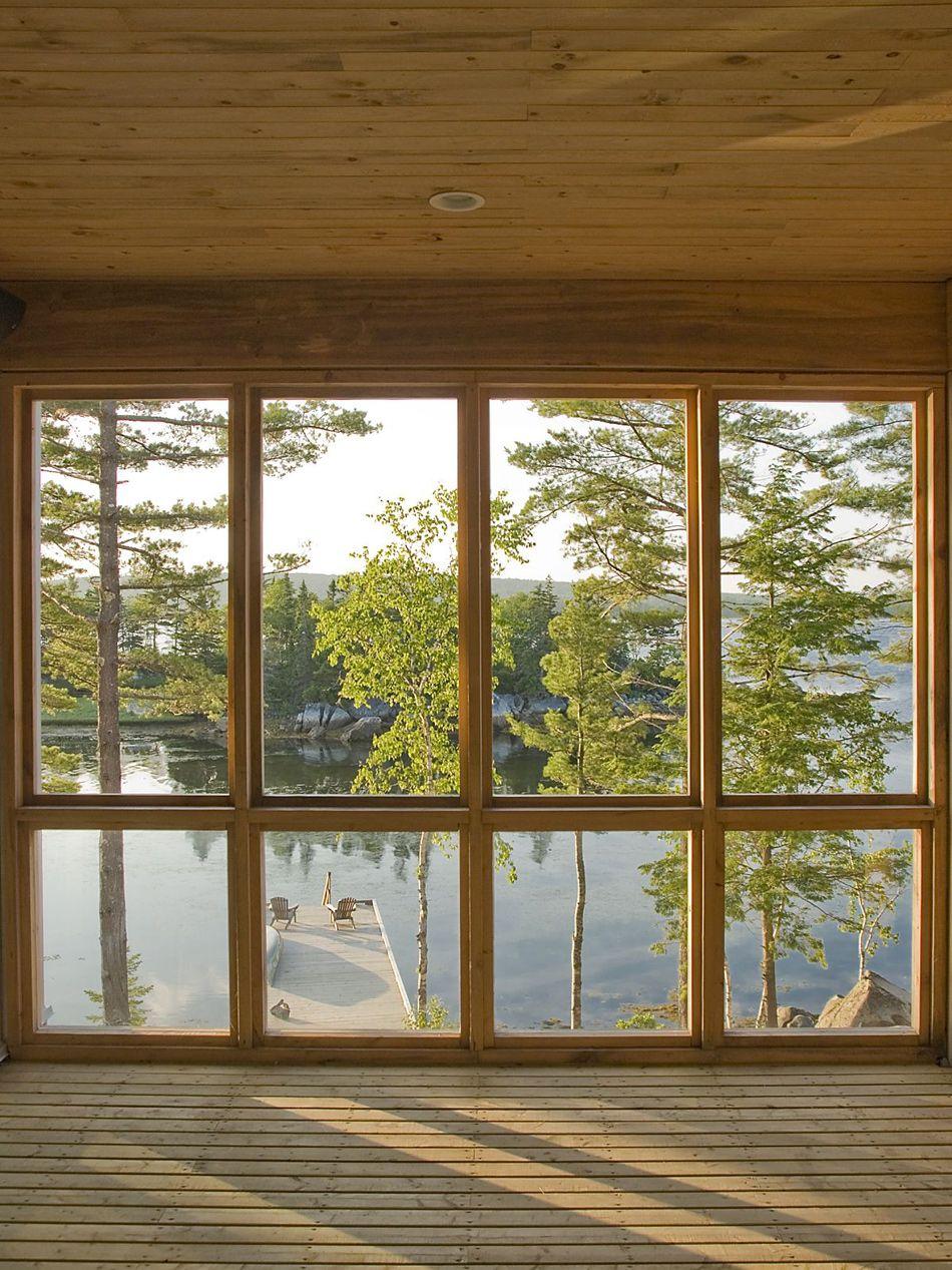 House wooden window design  bridge house от mackaylyons sweetapple architects  lyon bridge