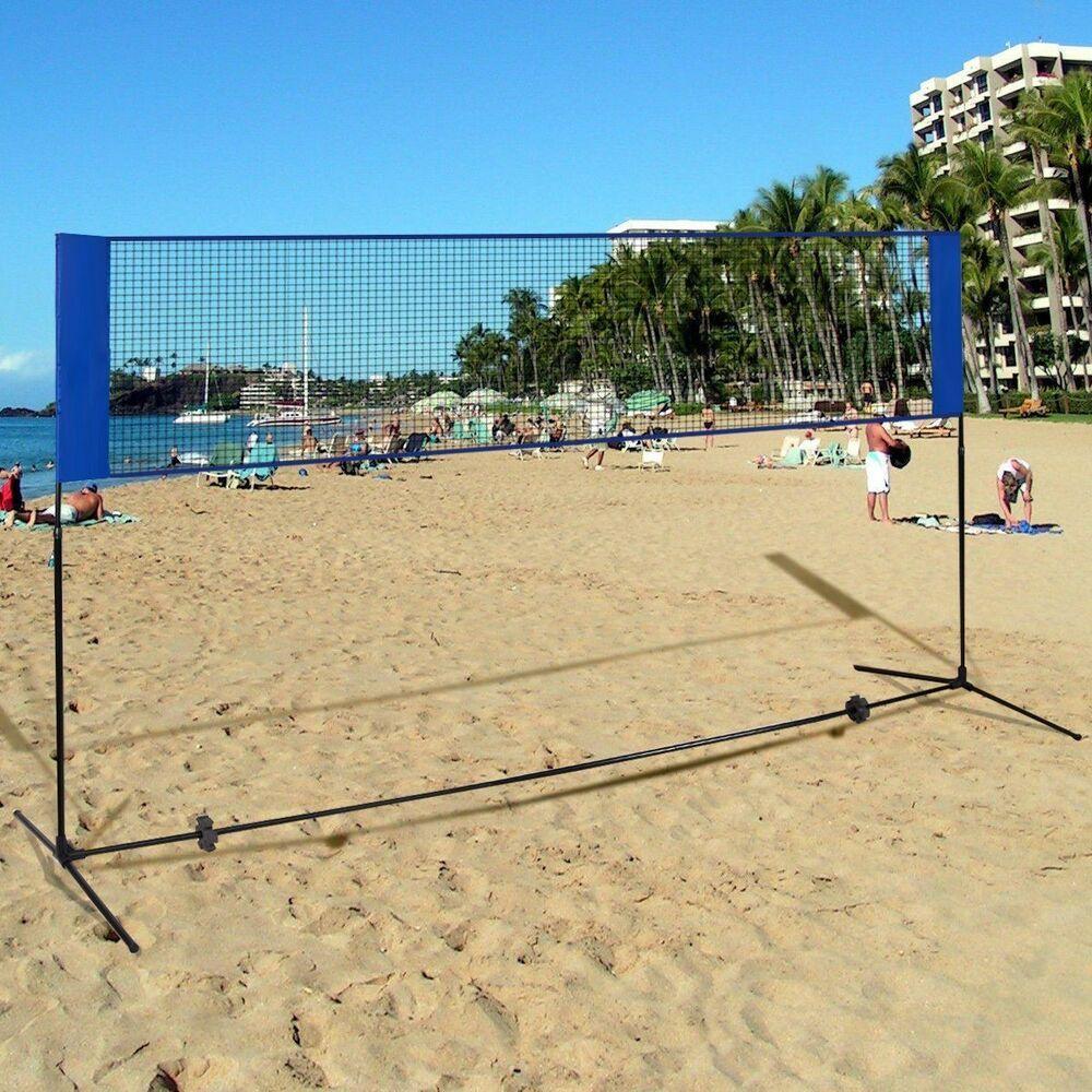Advertisement Ebay Outdoor 10 X 5 Beach Badminton Volleyball Tennis Training Net Mesh Tool W Bag Volleyball Training Backyard Gym Badminton