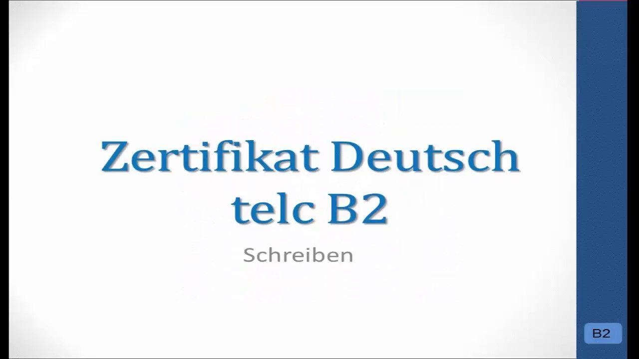 Prüfungsvorbereitung Telc B2 Bewerbung Praktikumhospitation