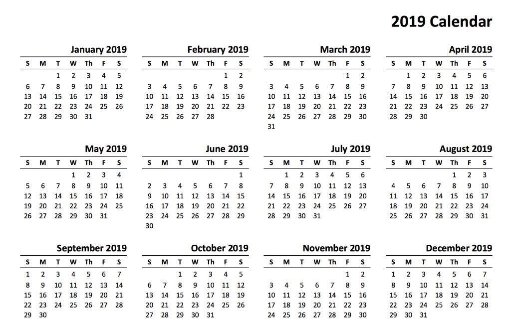Free Printable Photo Calendar 2019 2019 Calendar Amazonaws