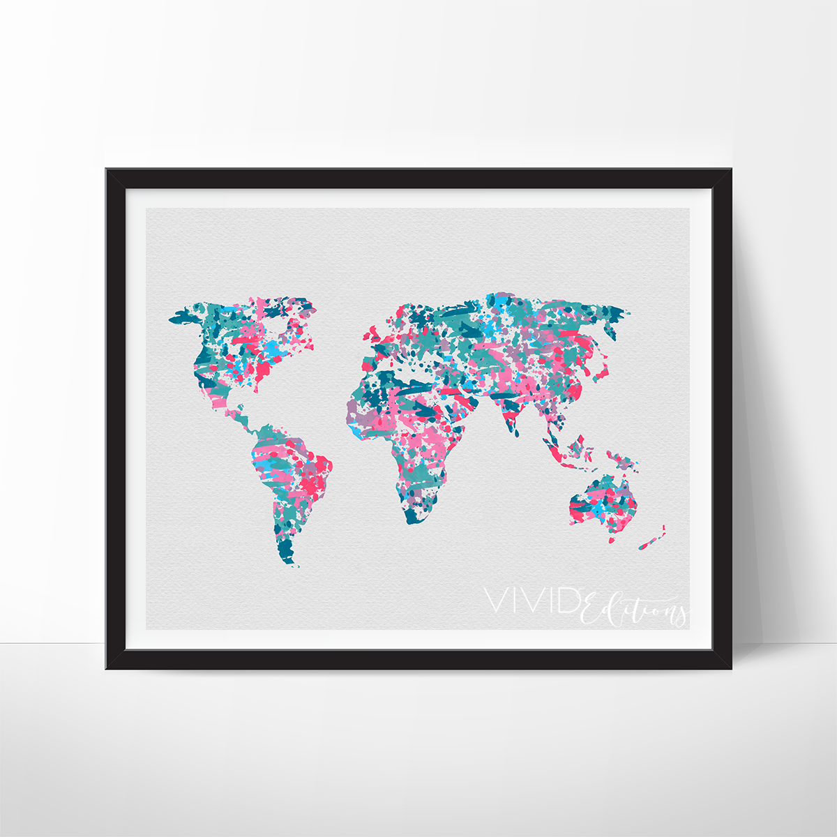 World map 2 watercolor art print cuadro world map 2 watercolor art vivideditions gumiabroncs Image collections
