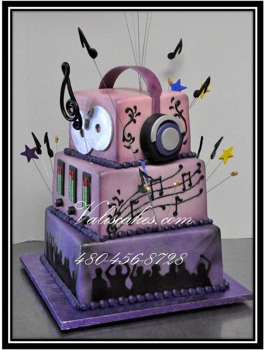 Remarkable Djs Cake With Images Disco Cake Dj Cake Music Cakes Birthday Cards Printable Trancafe Filternl