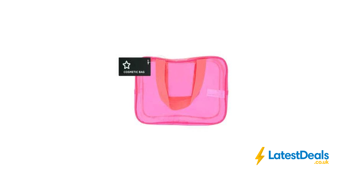 Superdrug Large Pink PVC Cosmetic Bag 72916ac1134c4