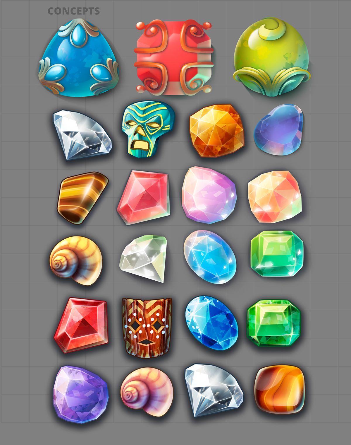 Jewel Quest iOS on Behance Кристали