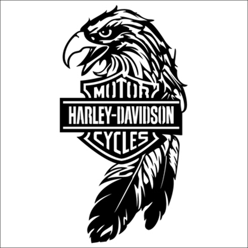 Harley davidson eagle die cut vinyl decal pv229 for windows vehicle windows vehicle body