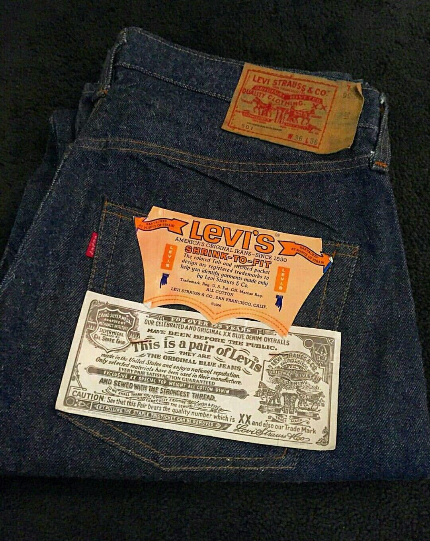 Vtg levi s 501 66 model 70 s deadstock   Vintage LEVI S details ... b4dd3b54870