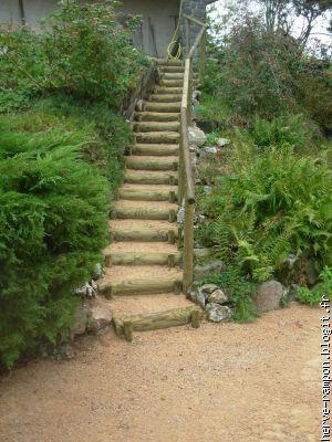 escalier jardin | Escalier de jardin, Jardin en pente et ...