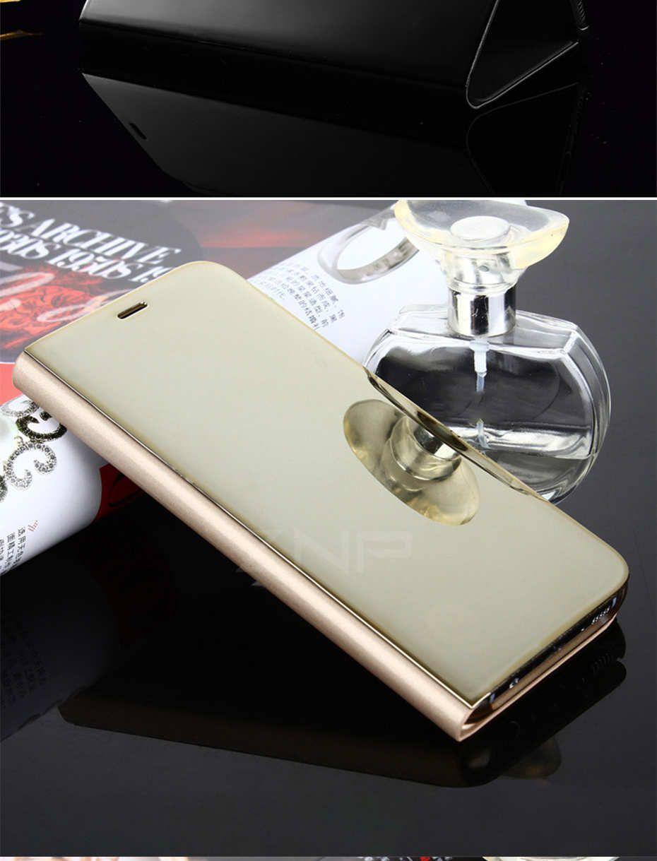 custodia cover clear flip mirror case specchio per samsung galaxy s8