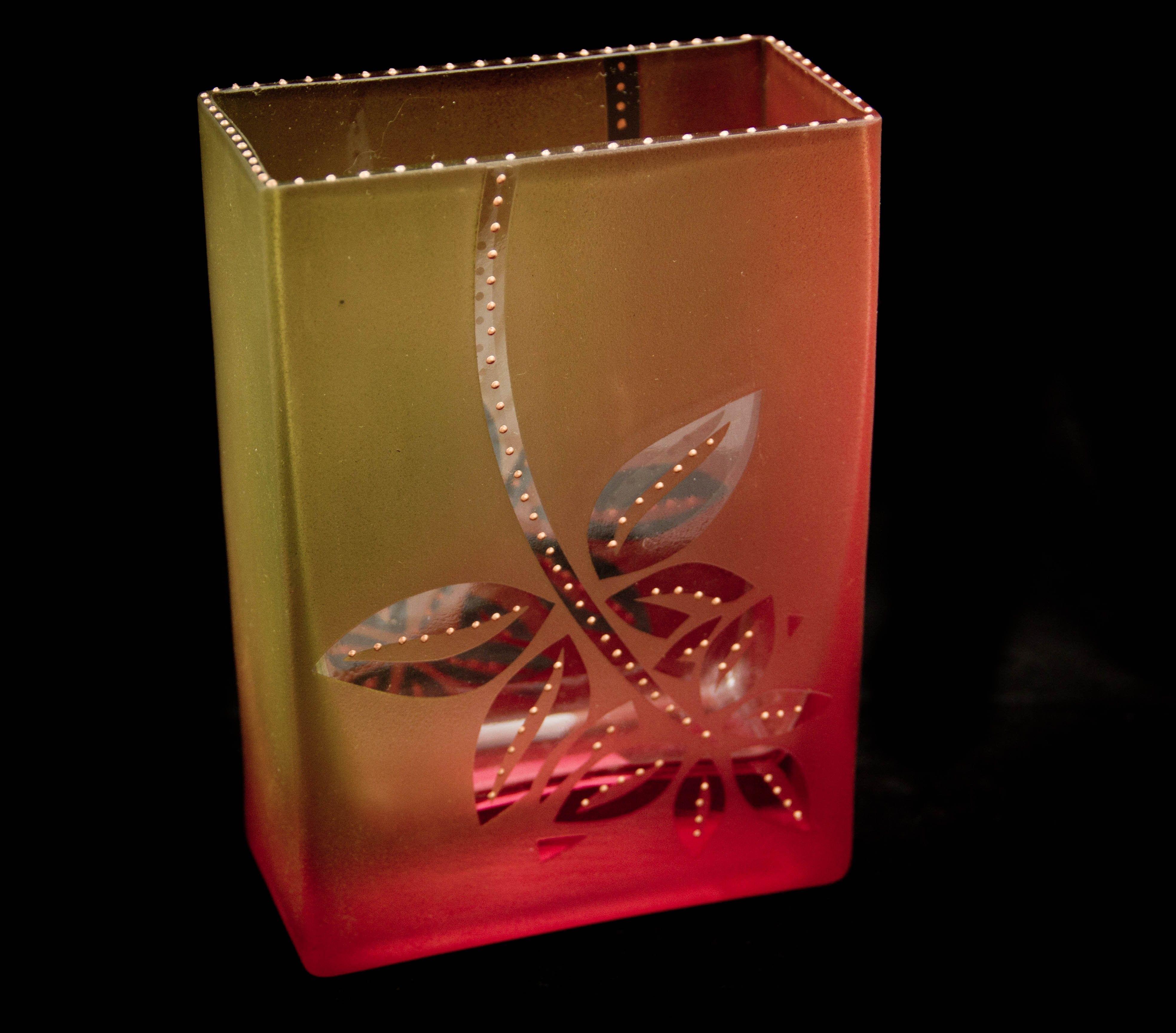 Mary Melinda Wellsandt   'Brick ' Sunset Line'.  Glass enamel baked on glass