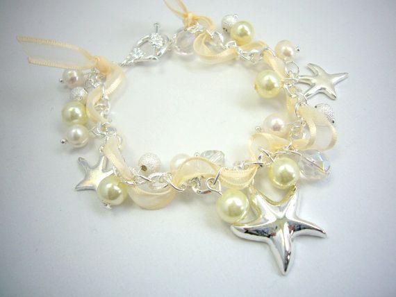 Beach Bridal Bracelet Starfish Bracelet Beach Wedding Jewelry Fresh