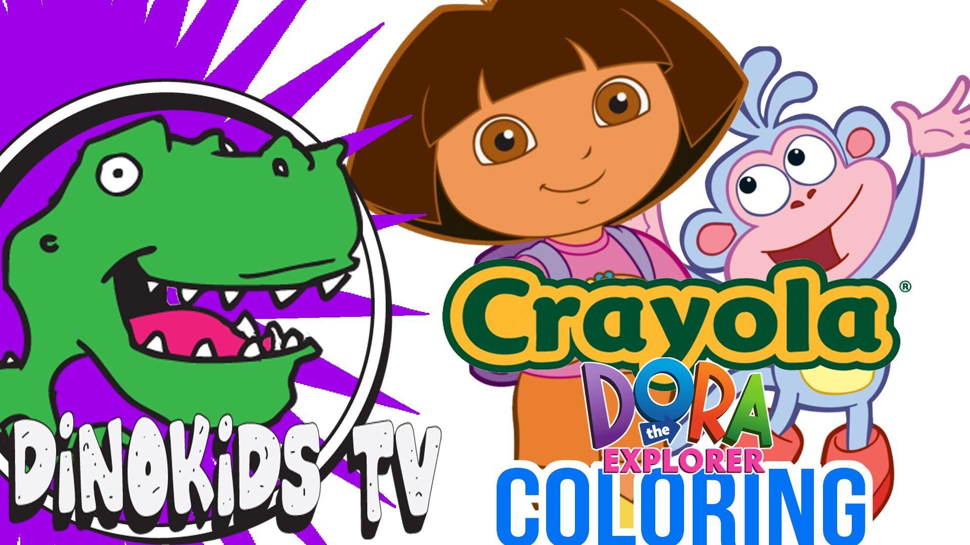 DORA THE EXPLORER - CRAYOLA COLORING BOOK BOOTS - DINO KIDS TV ...