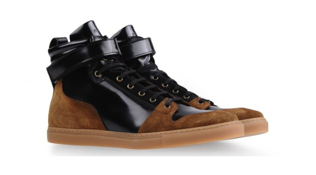 AMI from Alexandre Mattiussi have produced a spot-on high-top, a combination of camel suede and polished black leather and perforated toe.