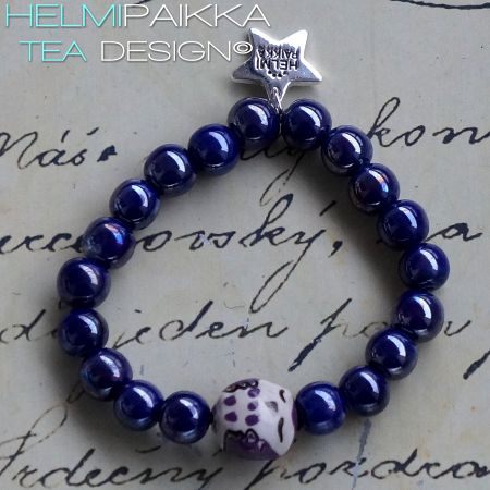 Sininen nukkuva lilapöllö rannekoru 15€ #owl #bracelet #armcandy #pöllö #pöllökorut