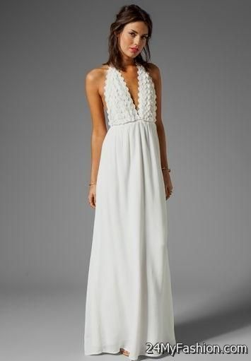 White Maxi Dress Wedding 2017 2018 B2B Fashion