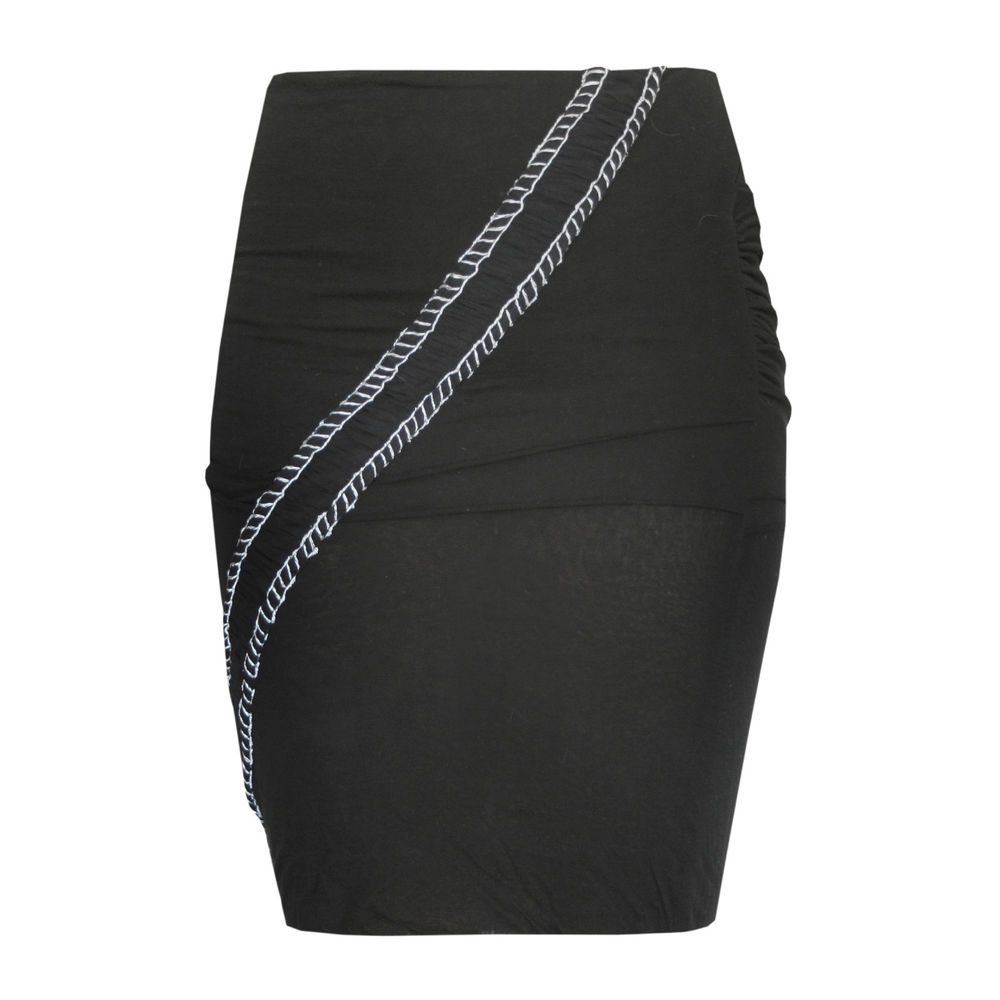 STELLA McCARTNEY soft bodycon stretch jersey diagonal seam pencil skirt 42 NEW #StellaMcCartney #StraightPencil