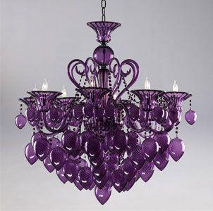 Purple Murano Glass Chandelier