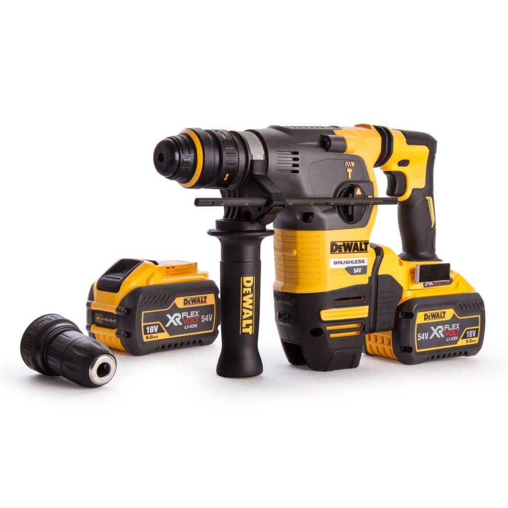 Dewalt Dch334x2 54v Xr Flexvolt Sds Rotary Hammer 3 Mode Drill Klussen