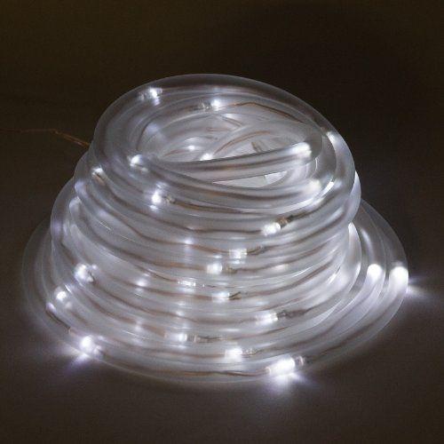 Solar 100 White Led 32 Foot Rope Light Reusable Revolutio Https Www Amazon Ca Dp B00ecjh39g Ref Cm S Christmas Rope Lights Outdoor Rope Lights Rope Lights