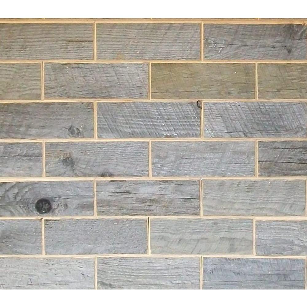 Rustix Woodbrix 3 In X 8 In Reclaimed Barn Board Wooden Wall