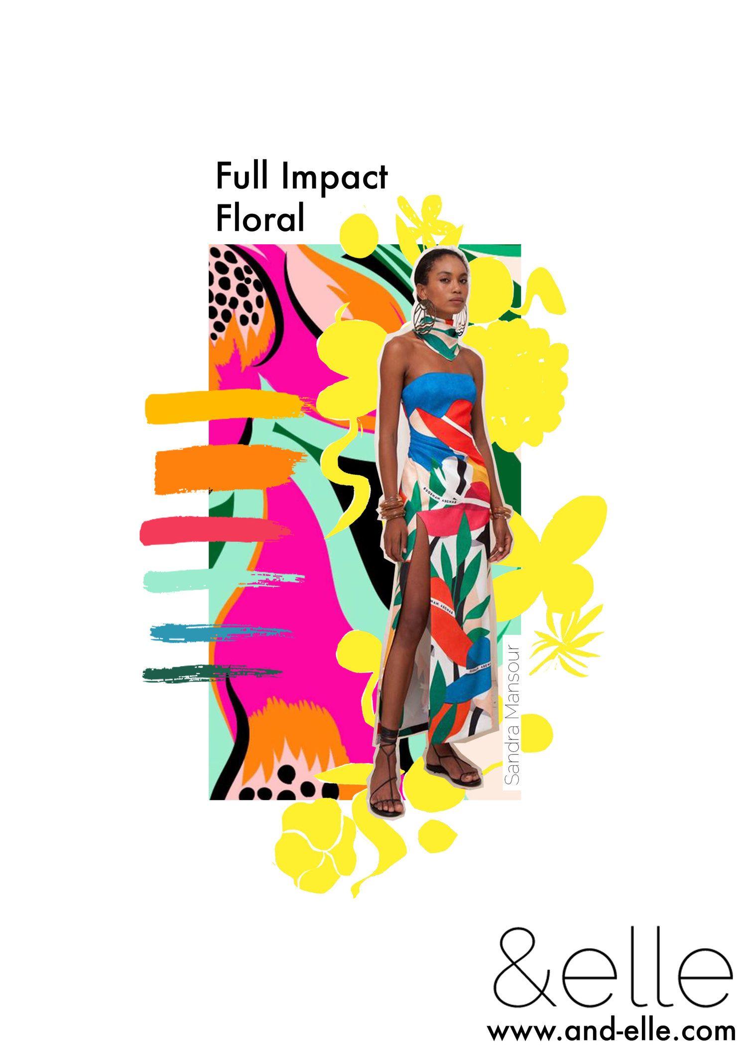 &elle — Full Impact Flora Fashion trending moodboard