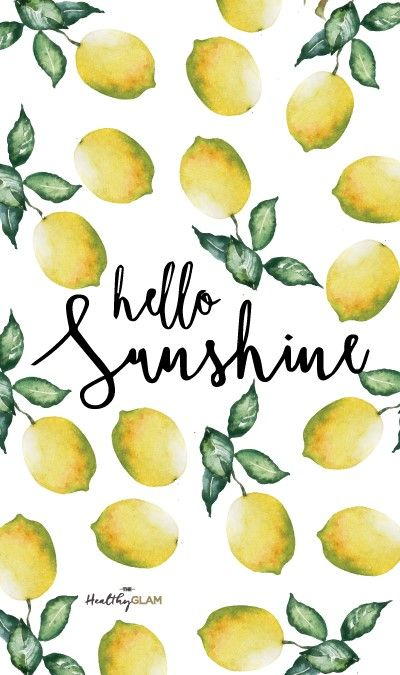 Lemons iphone wallpaper. Hello sunshine quote (con