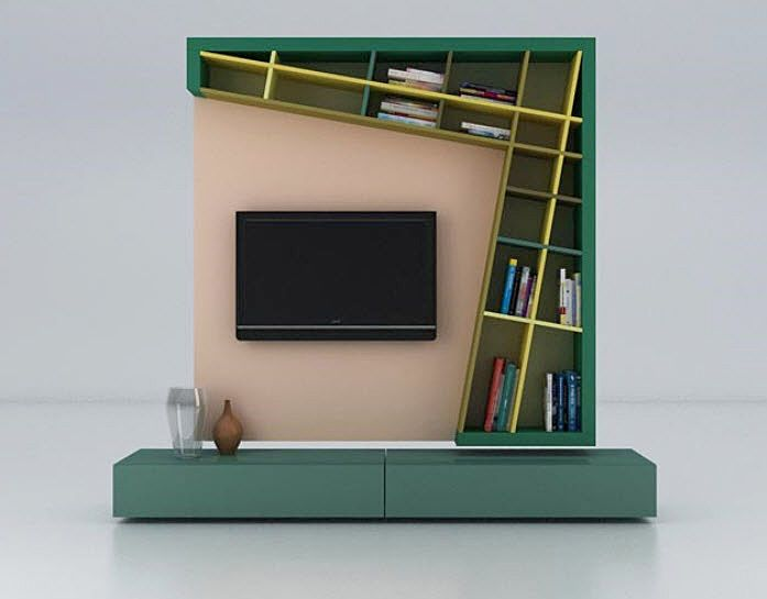 meuble de t l vision design original dinamismo by delfinetti bernasconi estel d co. Black Bedroom Furniture Sets. Home Design Ideas