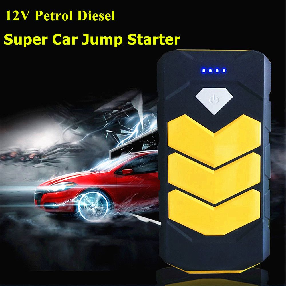 High Capacity Car Jump Starer 20000mah Starting Device 2usb Power Bank Mini Portable Car Charger For Car Battery Bo Car Battery Charger Charger Car Car Battery