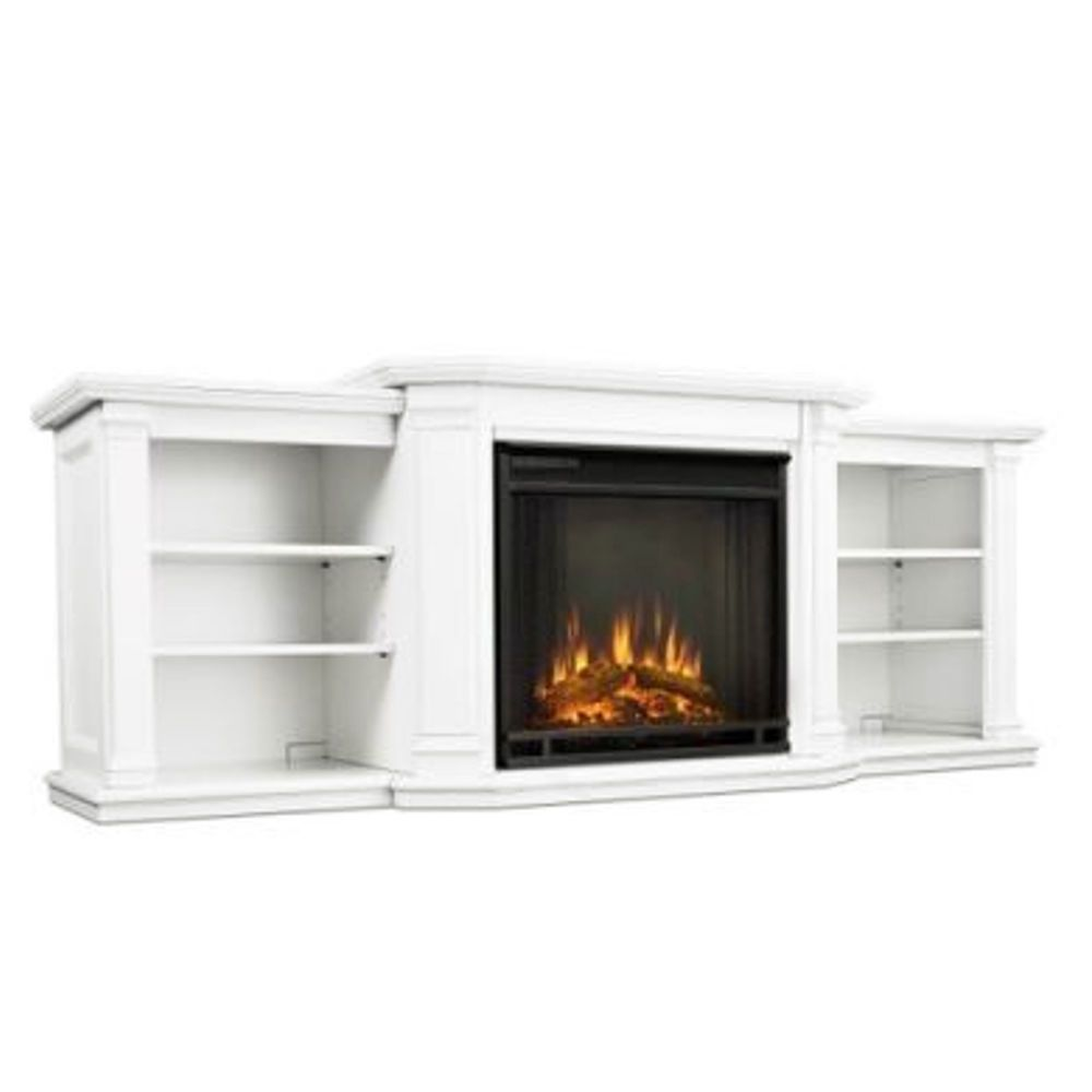 Electric Fireplace TV Stand Flame Media Entertainment