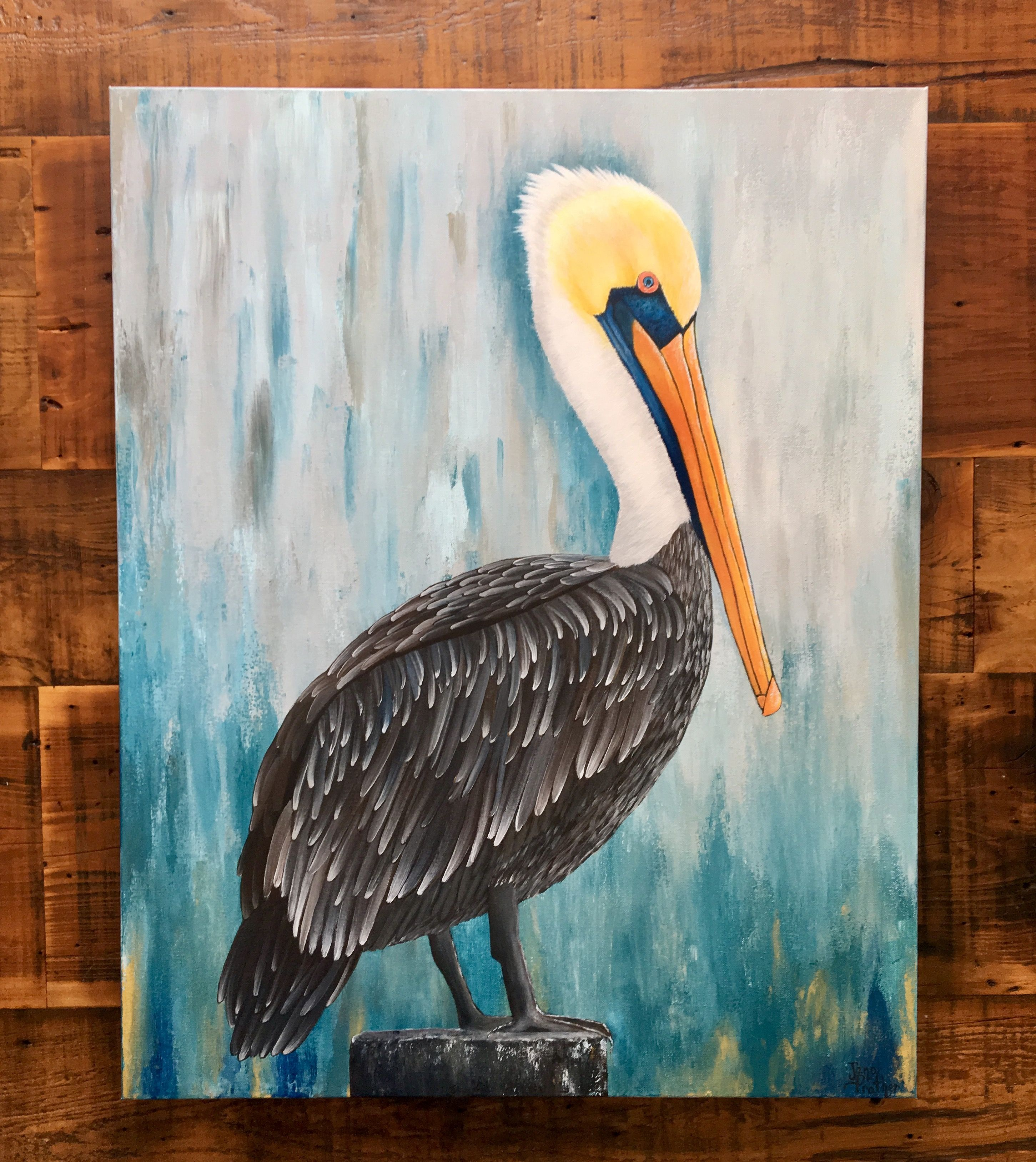 Pelican Painting For Pete 200 00