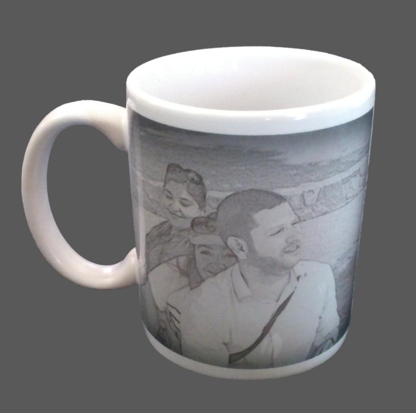 Espectacular foto blanco y negro en una taza para el café diario #taza